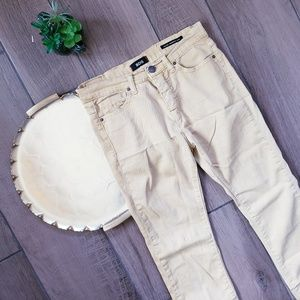 BDG high rise cigarette ankle yellow Jean's 27